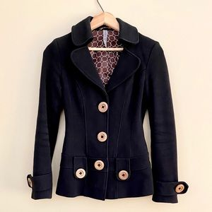 Spring Fitted Button Up Jacket